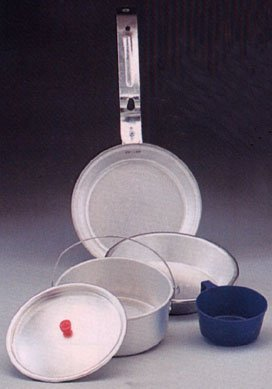 Rothco Aluminum Deluxe Mess Kit (5 (5 Piece Aluminum Mess Kit)