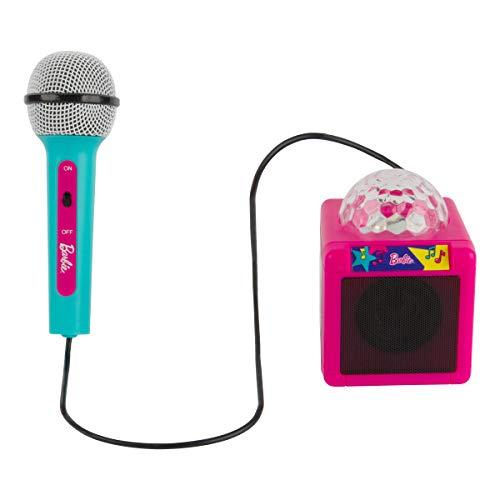Barbie Kids Bluetooth Karaoke Machine with Light-Up Disco Ball