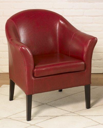 Armen Living 1404 Bicast Leather AKA Club Chair, Red ()