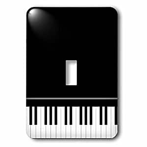 InspirationzStore Music Art Designs - Black piano edge - baby grand keyboard music design for pianist musical player and musician gifts - Light Switch Covers - single toggle switch (lsp_112947_1)