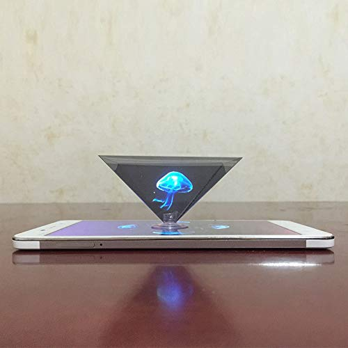 Zoomarlous 3D Hologram Pyramid Display Projector Video Stand Portable for Smart Mobile Phone (Hologram Cup)