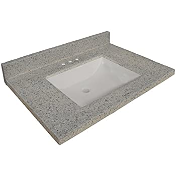 Design House 557553 Wave Bowl Premium Cultured Marble Vanity Top, 31 Inches  By 22