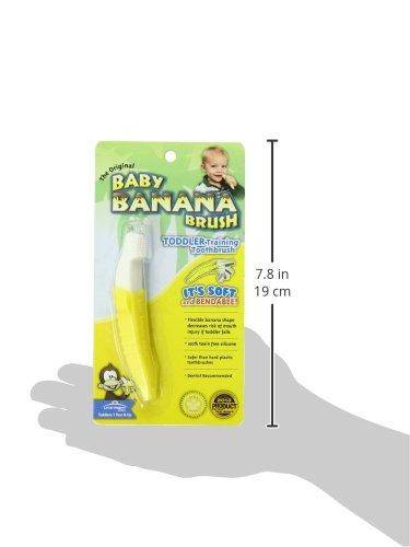 419JFuWU%2BxL - Baby Banana Bendable Training Toothbrush, Toddler