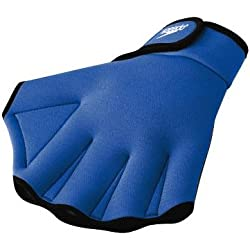Speedo Aqua Fit Swim Training Gloves, Royal, Medium