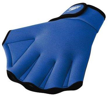 (Speedo Aqua Fit Swim Training Gloves, Royal, Medium)