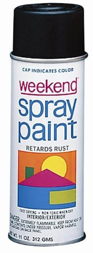 Weekend Spray Paint (Krylon I00356 11-Oz. W.I.Flat Black Weekend Spray Paint Inter, 11 Oz (Pack of 6))