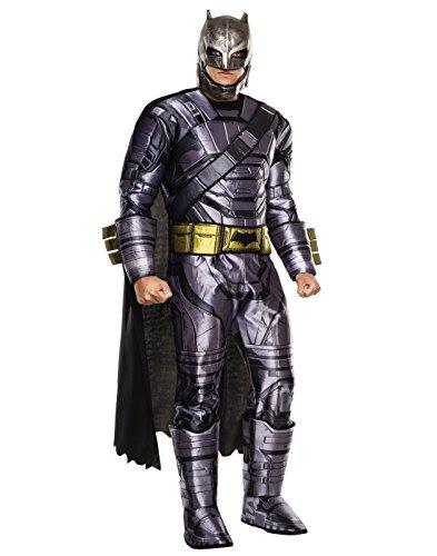 Rubie's Men's Batman v Superman: Dawn of Justice Deluxe Batman Armored Costume, Multi, X-Large