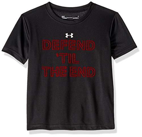 Under Armour Boys' Little Baller Short Sleeve T-Shirt, Black-S19, 5
