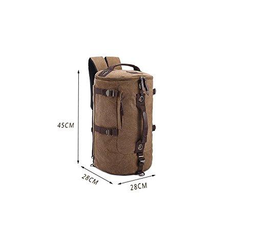 Wandern Rucksack, Vintage Canvas Travel Rucksack Laptop Rucksack Buch Tasche Schulrucksack Green