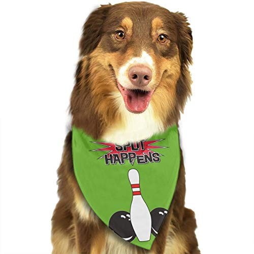 Address Verb Dog Bandana Pet Scarf Split Happens Bowling Ball Cute Triangle Bibs Baby Puppy Cat Kitten