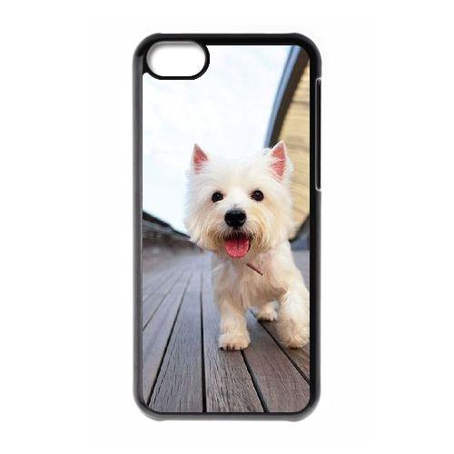 S5V37 niedlicher Westie Welpe B3J1JA iPhone 5c Handy-Fall Hülle schwarz DM2SEE6OS decken