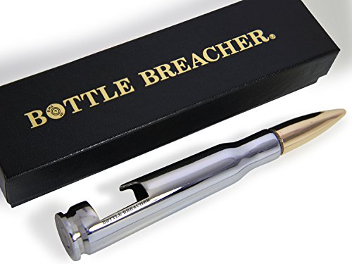 50 Caliber BMG Chrome Bottle Breacher Bottle Opener with Gift Box Made in the USA