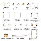Earring Making Supplies,LANMOK 2410pcs Jewelry