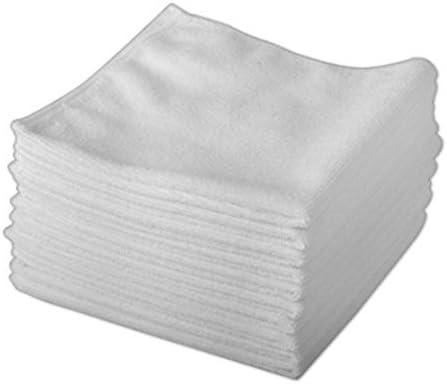 Rohi Extra fuerte blanco trapos 100% paños de algodón – paños de limpieza/pulido/paño de microfibra/gamuza de ventana/de limpieza trapos/ paños quitapolvo (30 cm x 30 cm, 10 unidades): Amazon.es: Hogar