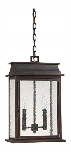 Old Bronze Bolton 2 Light Outdoor Full Sized Lantern Pendant
