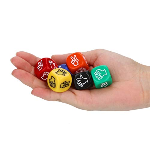 MSOO 6Pcs/Set Dance Party Polyhedral Multi Sided Acrylic Dice
