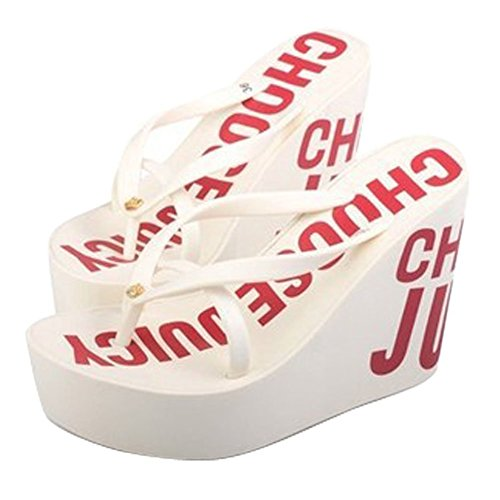 c4af5649ccf7a6 good Maybest Ladies Summer Platform Wedge Beach Flip Flop Toe High Heel  Thong Sandals Walking Shoes