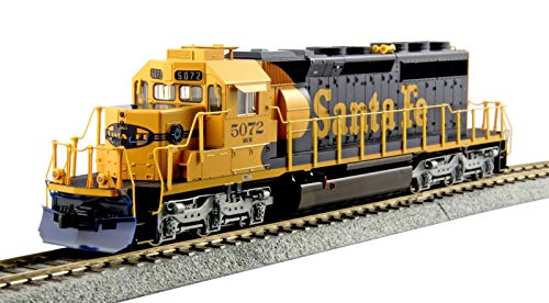 Kato USA Model Train Products HO EMD #5072 SD40-2 Mid Production Santa Fe Train