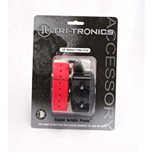 Tri-Tronics Expandable Receiver with Red Collar Strap