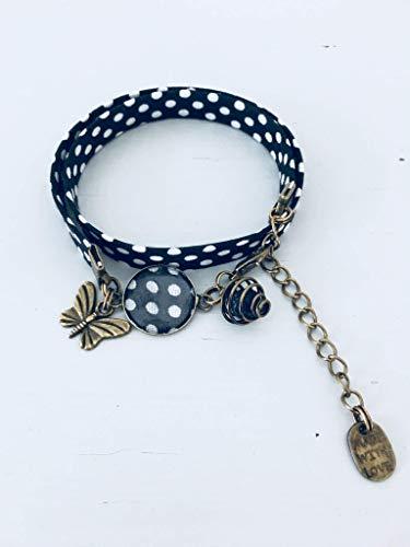 Royaume-Uni disponibilité 8aca4 ab2c8 Bracelet Liberty noir, bracelet, bracelet à pois, bracelet ...
