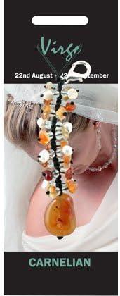 Virgo colgante de cristal encanto–cornalina
