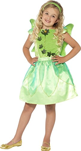 Smiffy's Toddler's Forest Fairy Costume,  Dress, Felt Wings and Headband, Color: Green, Ages 3-4, Size: Medium, (Green Fairy Dress)