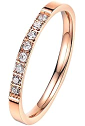 Amazon.com: BOHG Jewelry Women's 3mm 18k Rose Gold Plated ...