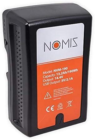 12800mAh 190Wh Baxxtar Pro Bater/ía V-Mount Blackmagic - JVC - D-Tap y USB out compatible con ARRI Panasonic BMCC Video light Sony Camcorder V190 compact II
