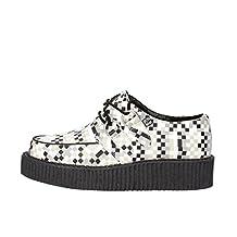 T.U.K. T. U. K sneakers Woman White Gray Leather AG832 (7 US / 37 EU)