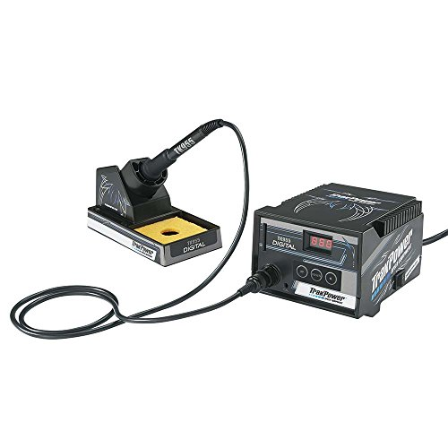 TrakPower TK955 Digital Soldering Iron with Iron Stand, Sponge and Ready-to-Apply Decals - Digital Power Station