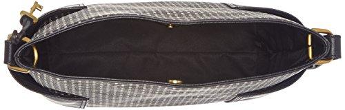 Fossil Damentasche? Lane Ns Crossbody - Borse a tracolla Donna, Nero (Black Stripe), 10.16x30.48x27.94 cm (B x H T)