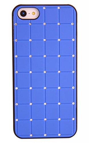 Outstanding Value Iphone 5c CRISTAL DE LUXE Croix Diamant Hard Case Cover Bleu Bling avec cadre noir pour Apple iPhone 5C