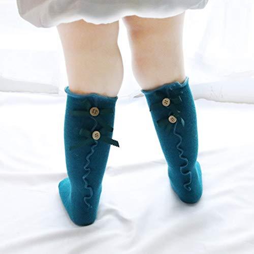 03de80ac3da Deer Mum Girls Cute Princess Knee High Socks Toddler Lovely Bowknot Boot  Sox Solid Color Long