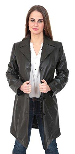 Goods Femme Noir Longues Trench A1 Manches Fashion Manteau 5q6nZp