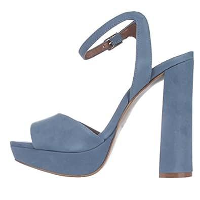 Steve Madden Women's Brrit Dress Sandal (6, Light Blue)