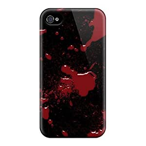 Hot Snap-on Blood Splatter Hard Cover Case/ Protective Case For Iphone 4/4s
