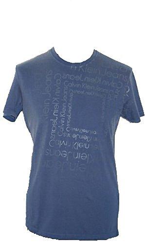 Calvin KleinHerren T-Shirt Blau Blau