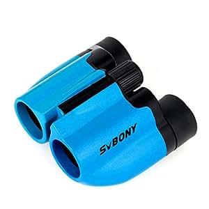 SVBONY 8x21 Prismáticos Niños Ultra Compacto Binoculares de Juguete (Azul)