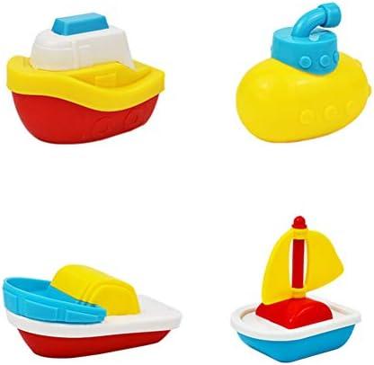 Fyeep Badspeelgoed onderzeeboot badspeelgoed cadeauset bad boot speelgoed badboot speelgoed badboot zwemmende boot badplezier groot cadeau voor baby 4 stuks