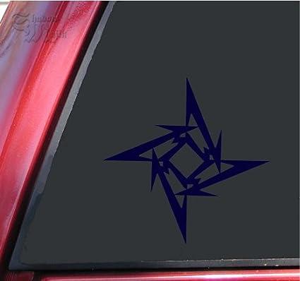 ShadowMajik Metallica Ninja Star Vinyl Decal Sticker (6 Inch, Black)