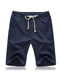 ZXHHL Solid Color Couple Beach Pants Men's Korean Version of self-Cultivation
