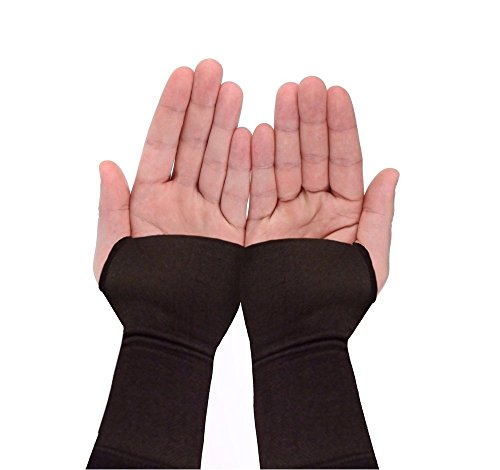 Wrist Brace Sleeve By Copper Compression Gear - RELIEF For Carpal Tunnel, RSI, Cubital Tunnel, Tendonitis, Arthritis, Wrist Sprains. Support Recovery & Feel Better NOW. (1 Sleeve - Fits Both Hands) by Copper Compression Gear