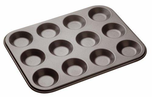 Kitchencraft Masterclass Baking Pan For 12-piece, Grey, 32 x 24cm