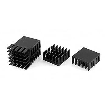 Amplificador de Potência Transistor IC FET alumínio dissipador de calor 22x22x10mm 5 PCS