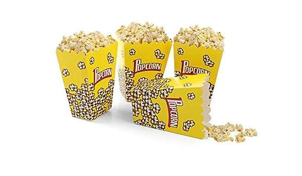 takestop® - Caja de cartón con diseño de Palomitas Amarillas, Cajas de Papel con Conos Plegables para Fiestas, Caramelos, Galletas, Bolsas de Fiesta o cumpleaños: Amazon.es: Electrónica