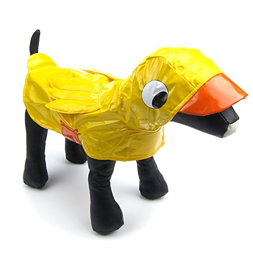 Alfie Pet - Kamil Duck Slicker Waterproof Raincoat (for Dogs and Cats) - Color: Yellow, Size: -