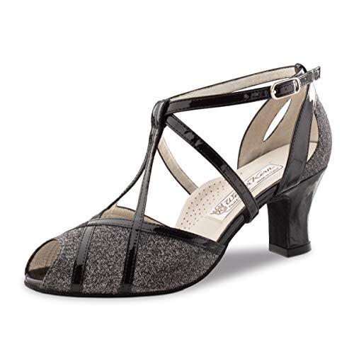 charol Mujeres De Plateado Cm Brocado Zapatos Baile Werner Ginny Kern Negro 6 B8qan6