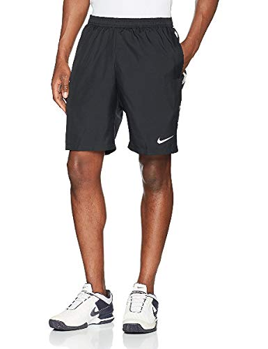Nike Men's Court Dry 9'' Tennis Short Gridiron/Gridiron/White Small 9