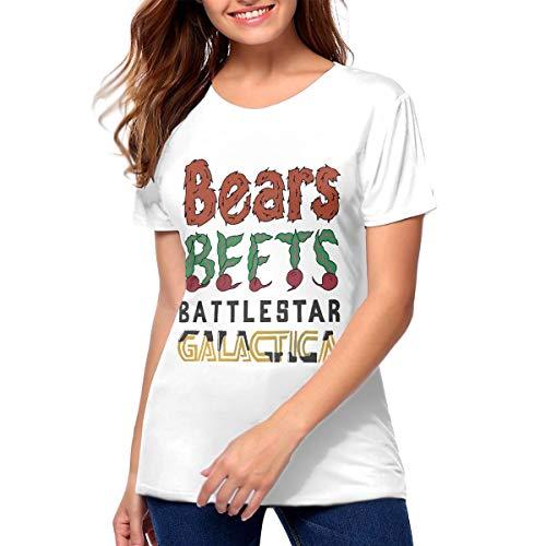 Yqgtsdfhgf Bears Beets Battlestar Galactica T Shirt Printed Shirt Basic Shirt Woman 〠White ã€' -