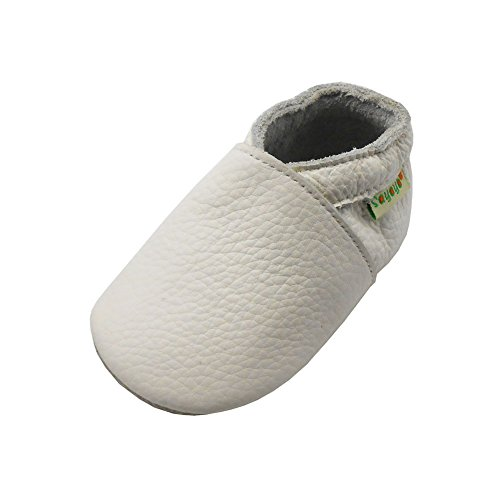 (Sayoyo Lowest Best Baby Soft Sole Prewalkers Baby Toddler Shoes Cattle Cashmere Shoes White )
